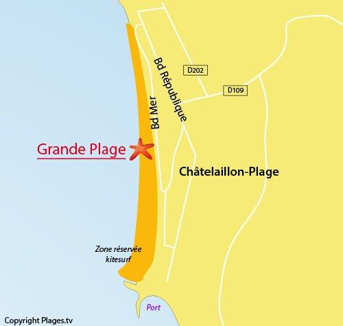 carte Grande Plage de Chatelaillon
