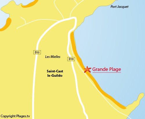 Grande Beach in Saint Cast le Guildo