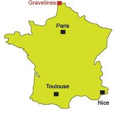 Localisation de Gravelines Petit-Fort-Philippe dans le Nord