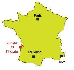 Carte de Grayan et l'Hôpital
