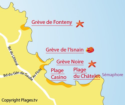 Map of Grève Noire in St Quay Portrieux
