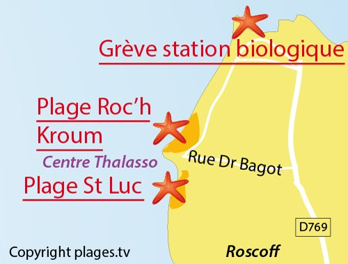 Map of Biological Station Cove in Roscoff