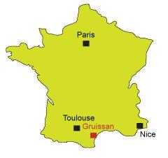 Carte de Gruissan dans l'Aude