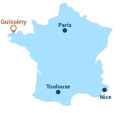 Localisation de Guissény en Bretagne