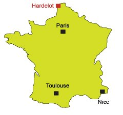 Location of Hardelot in France
