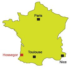 Location of Hossegor in France