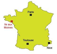 Localisation de l'ile aux Moines - Golfe du Morbihan