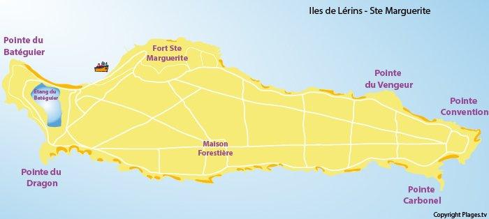 Carte de l'ile Sainte Marguerite 06