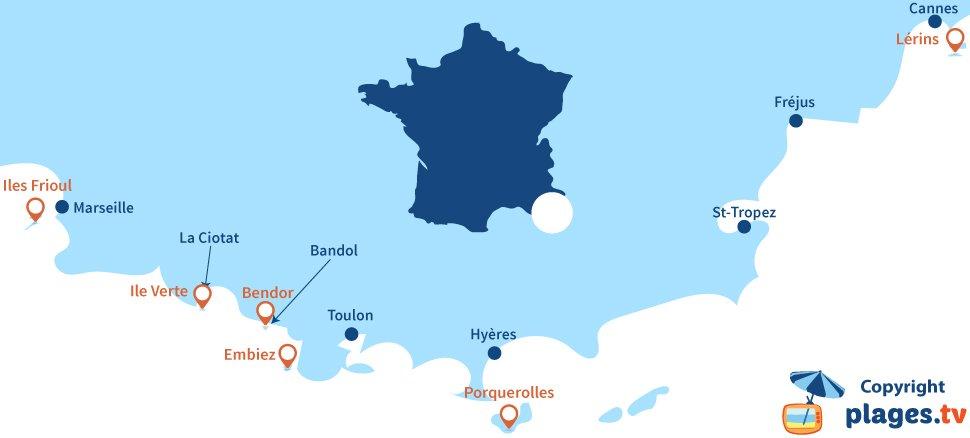 Les Petites Iles Du Sud De La France