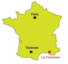 Location of La Couronne - Martigues