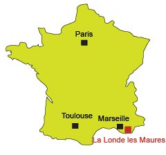 Location of La Londe les Maures in France