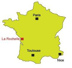 Map of La Rochelle in France