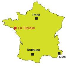 Mappa di La Turballe in Francia