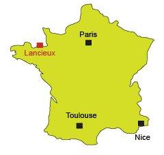 Localisation de Lancieux - Côte d'Emeraude