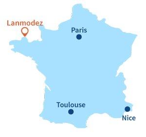 Localisation de Lanmodez en Bretagne
