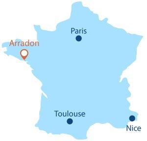 Localisation de Larmor Baden en Bretagne