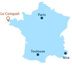 Où se trouve Le Conquet en Bretagne