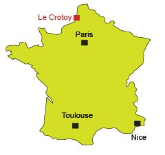Location of Le Crotoy in Nord of France