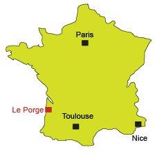 Carte de Le Porge Océan en Gironde