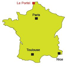 Location of Le Portel in North of France
