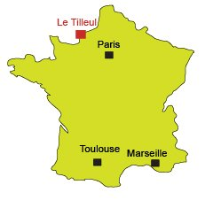 Location of Le Tilleul in Normandy