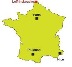 Localisation de Leffrinckoucke dans le Nord