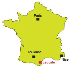 Location of Leucate in France