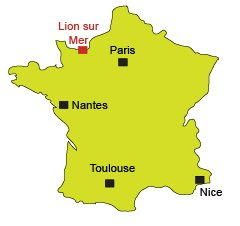 Map of Lion sur Mer in Normandy - France