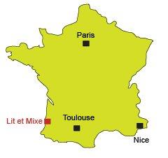 Mappa di Lit et Mixe in Francia