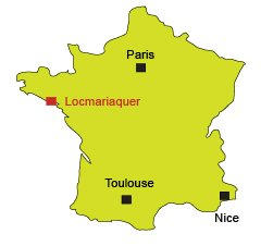 Location of Locmariaquer in Brittany - France