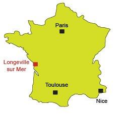 Localisation de Longeville sur Mer en Vendée