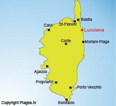 Localisation de Lucciana en Corse