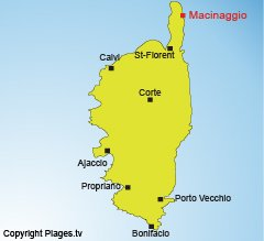 Location of Macinaggio in Corsica