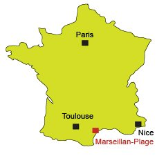 Location of Marseillan in France