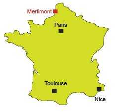 Location of Merlimont in France - North