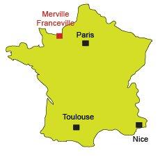 Localisation de Merville Franceville