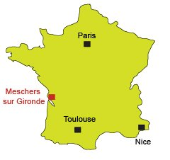 Location of Meschers sur Gironde in France