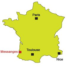 Location of Messanges in France