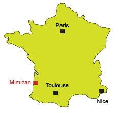 Carte de Mimizan-Plage