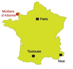 Map of Les Moitiers d'Allonne in France