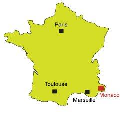 Mappa Monaco - Francia