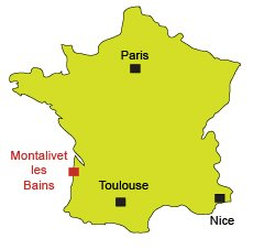 Location of Montalivet les Bains in France