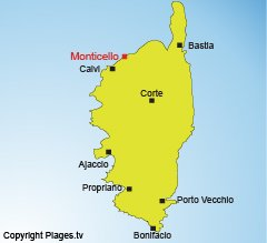 Location of Monticello in Corsica