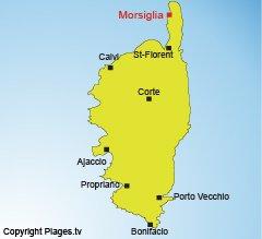 Localisation de Morsiglia dans le Cap Corse