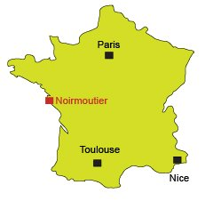 Location of Noirmoutier in France