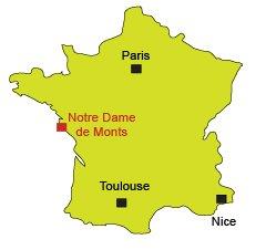Localisation de Notre Dame de Monts en Vendée