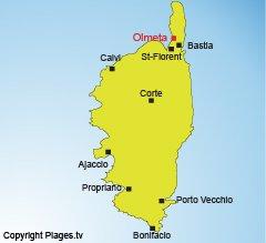 Carte d'Olmeta en Corse