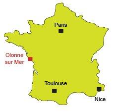Localisation d'Olonne sur Mer