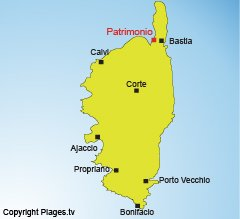 Location of Patrimonio in Corsica