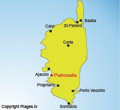 Map of Pietrosella in Corsica